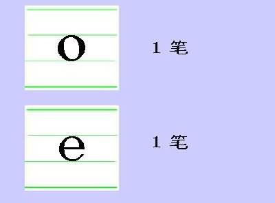 汉语拼音1 a o e 书写方法