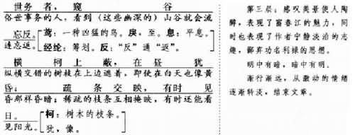 《与朱元思书》历届中考试题 ( 含答案)图片